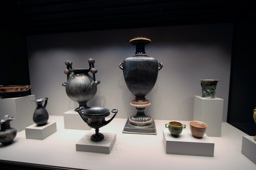 Getty Villa Los Angeles Greek vessels