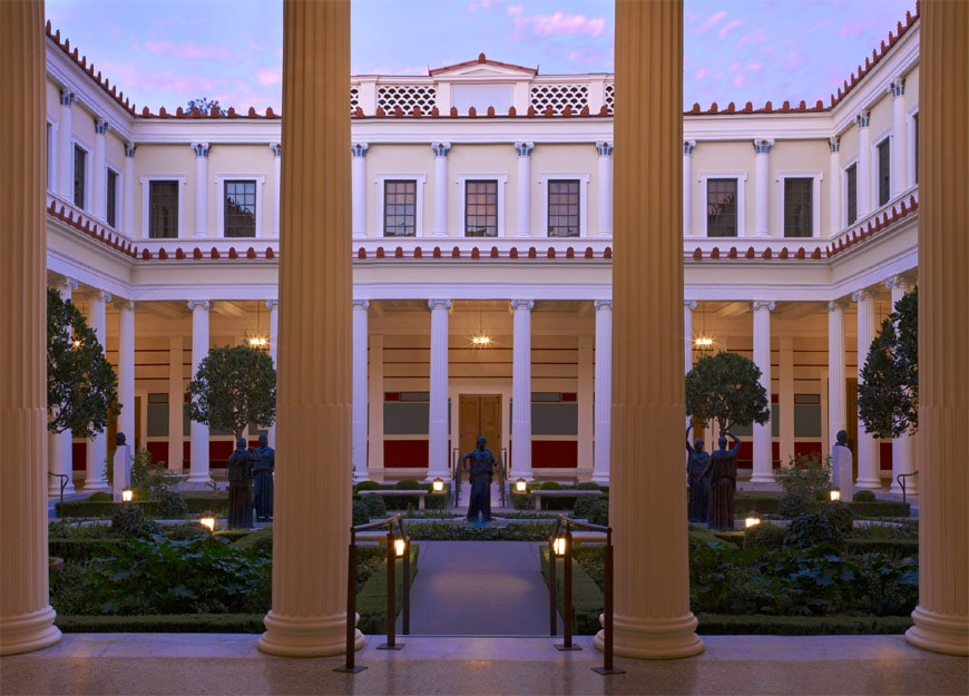 Getty Villa Los Angeles inner portico