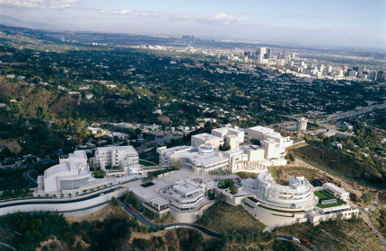 Getty center museum Los Angeles aerial view