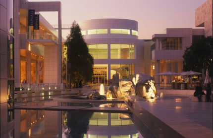 Getty center museum Los Angeles exterior view night