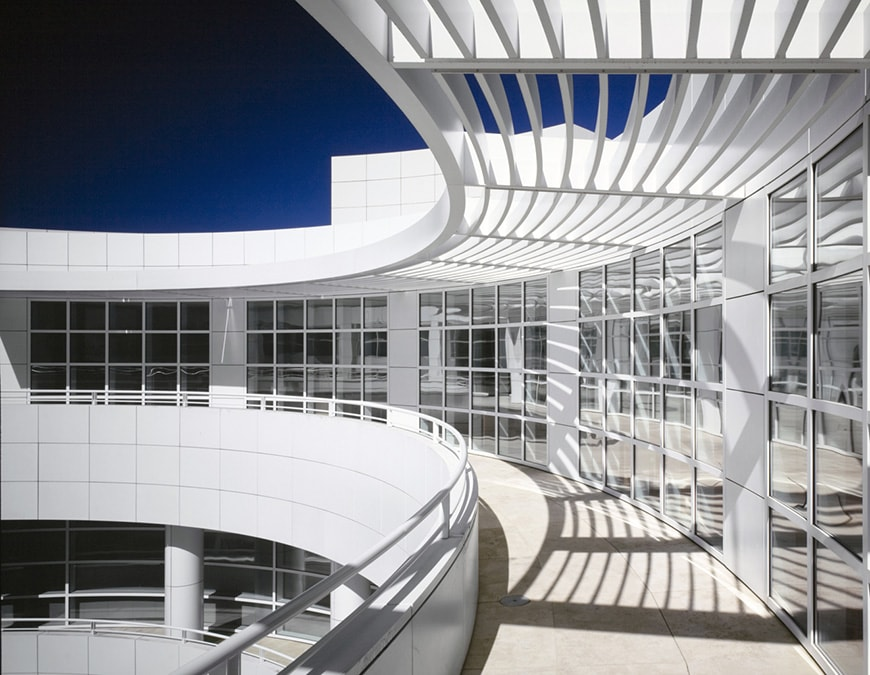 J. Paul Getty Museum, Richard Meier, louvers and shades