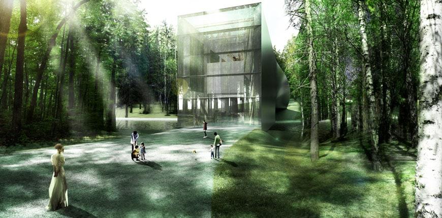 Kistefos Museum Bjarke Ingels Group exterior view 02