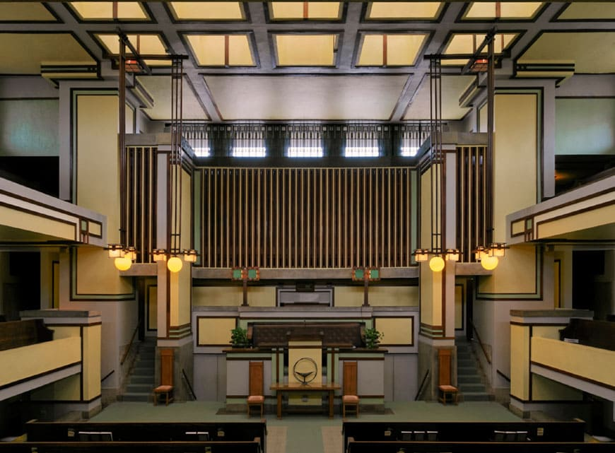 Modern Architecture conservation Unity Temple Wright
