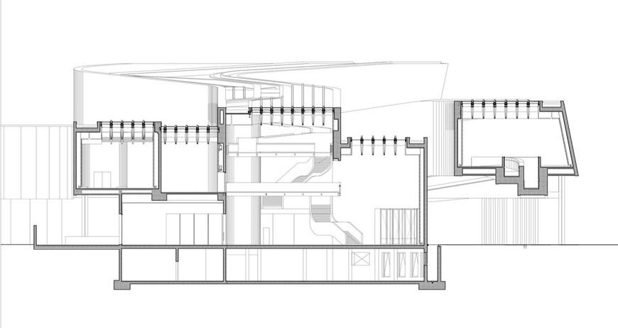 MAXXI museum Rome Zaha Hadid cross section 1