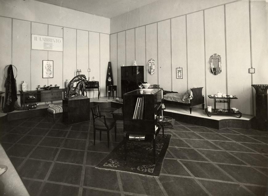 Biennale-Monza-1927-sala labirinto