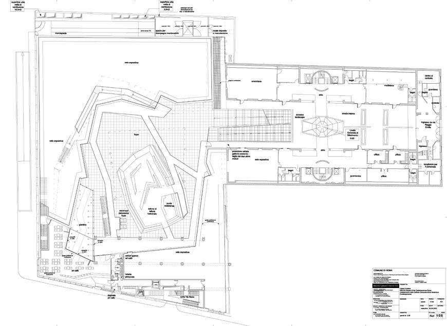 MACRO museum Rome Odile Decq ground plan