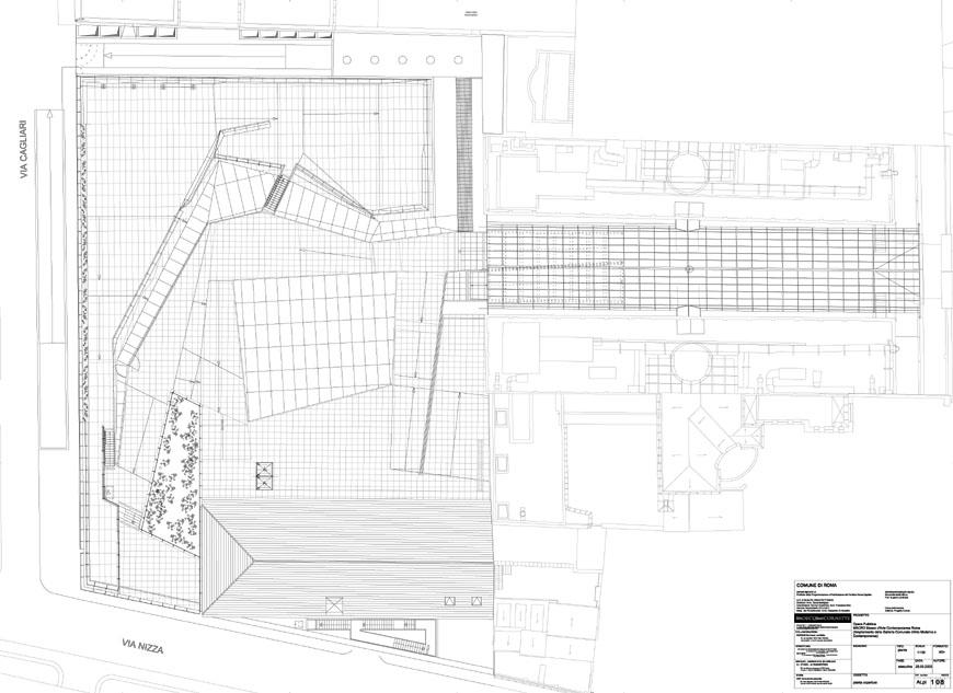 MACRO museum Rome Odile Decq roof plan