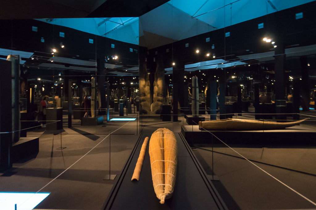 Neo Prehistory exhibition Branzi Hara reed boat 21st Triennale Milan 01
