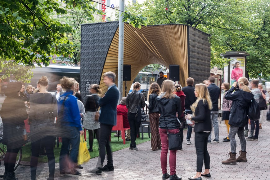 Pauhu temporary wood pavilion Tampere Architecture Week 01