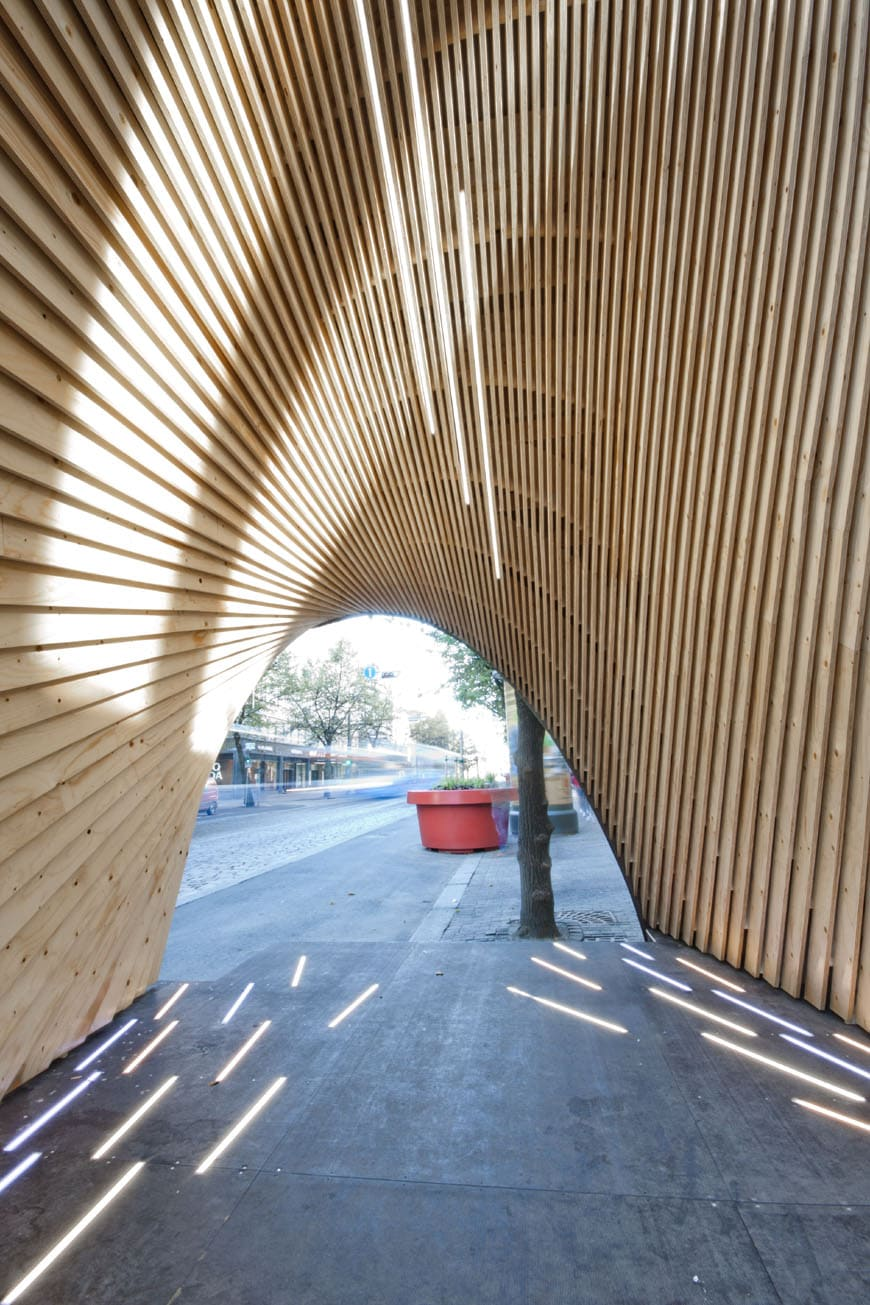 Parametric 3d modeling for the pauhu wood pavilion for Architecture wood