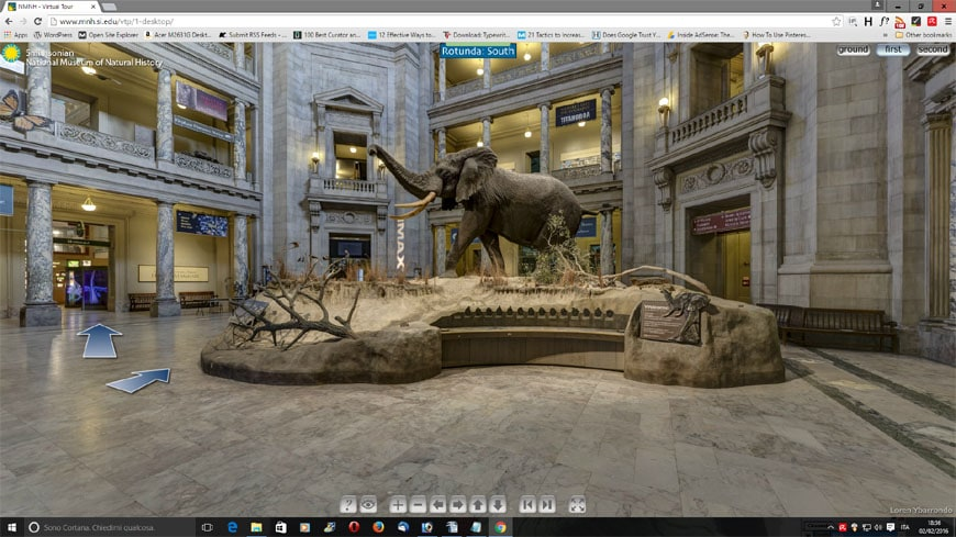 Smithsonian HMNH virtual tour