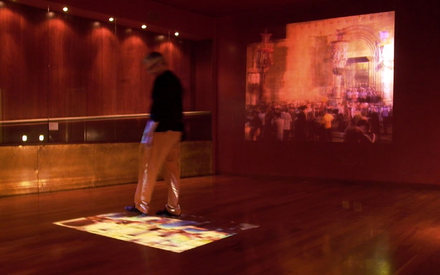 interactive installation Sassari city museum