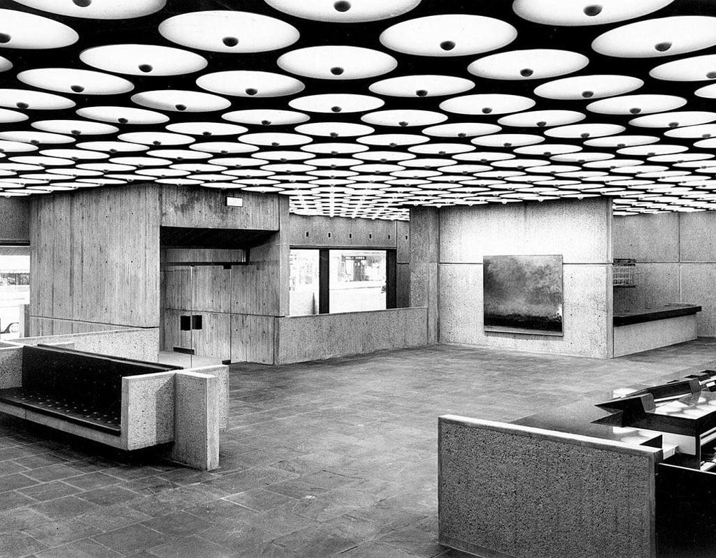 Whitney Breuer Museum lobby 1966