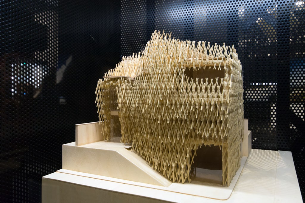 Kengo Kuma Sunnyhills model Sempering exhibition MUDEC Milan 01 Inexhibit