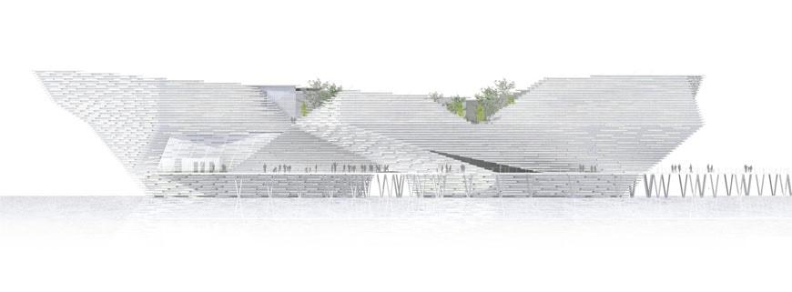 kengo-kuma-va-museum-dundee-east-elevation
