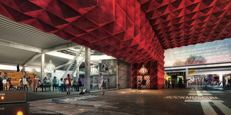 Ragnarock museum Roskilde MVRDV COBE render 01