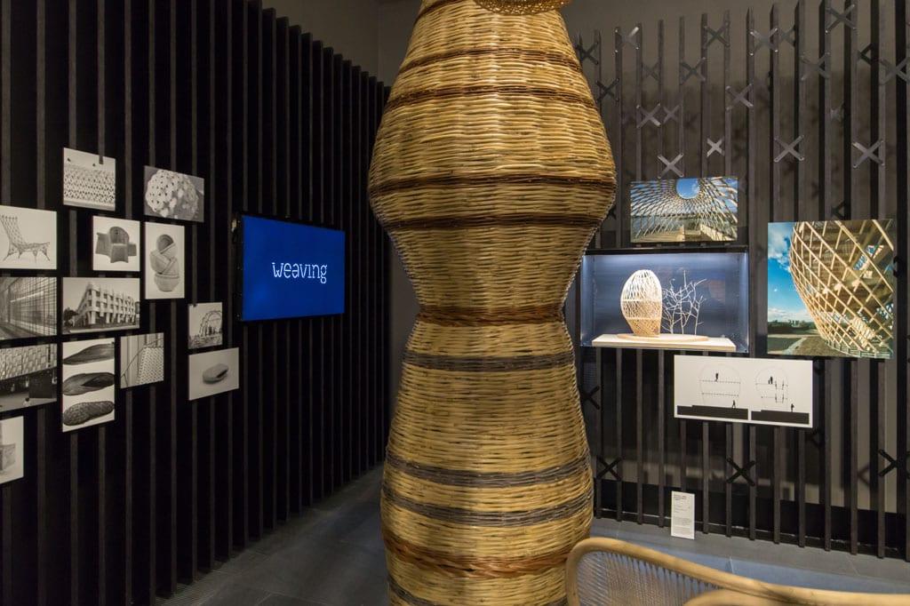 Sempering design architecture exhibition MUDEC Milan weaving 01 Inexhibit