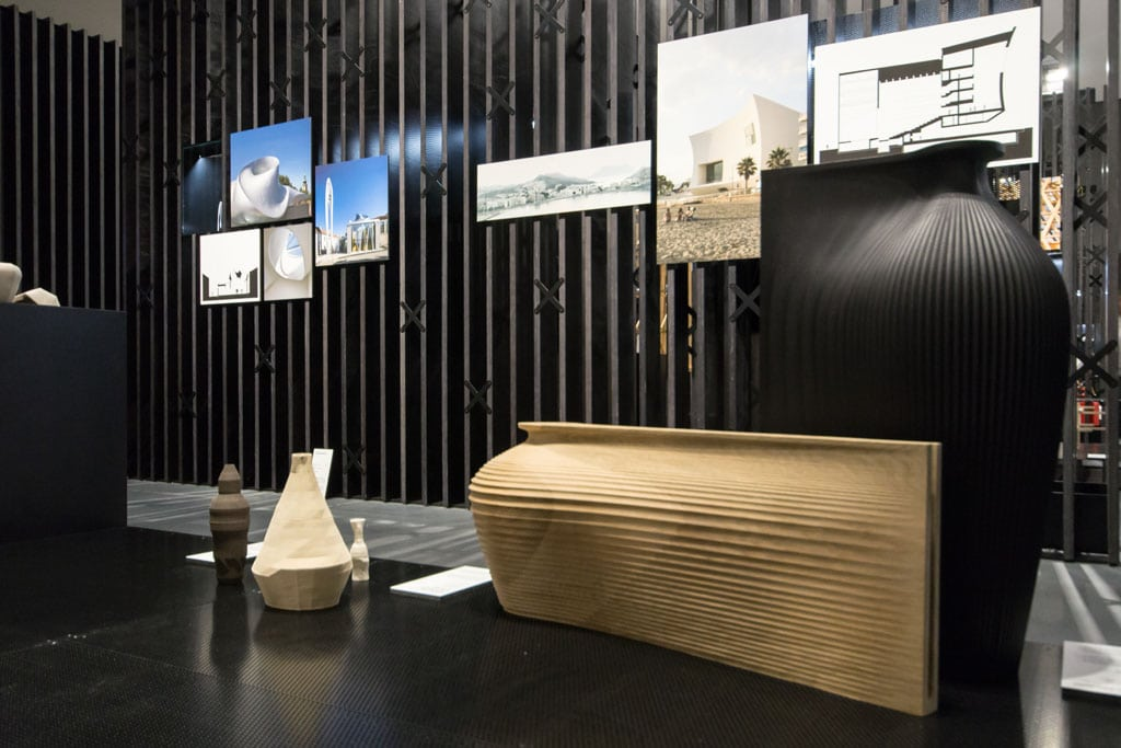 Zaha Hadid wooden vases Sempering exhibition MUDEC Milan 01 Inexhibit