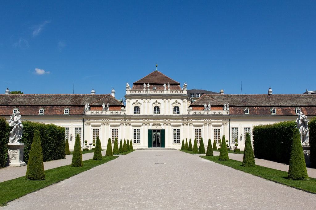 Belvedere Museum Vienna Lower Belvedere palace exterior view 01
