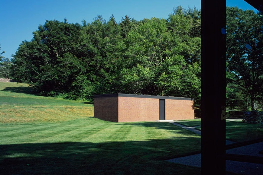 Brick House Philip Johnson New Canaan Connecticut exterior