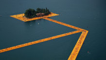 Christo artwork Lake Iseo 2016 The Floating Piers 03