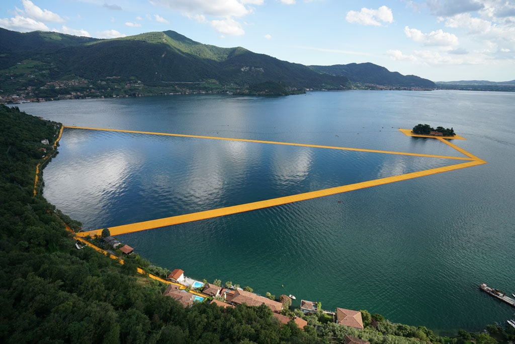 Christo artwork Lake Iseo 2016 The Floating Piers 04