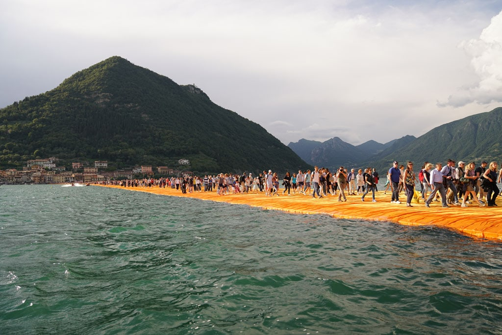 Christo artwork Lake Iseo 2016 The Floating Piers 06
