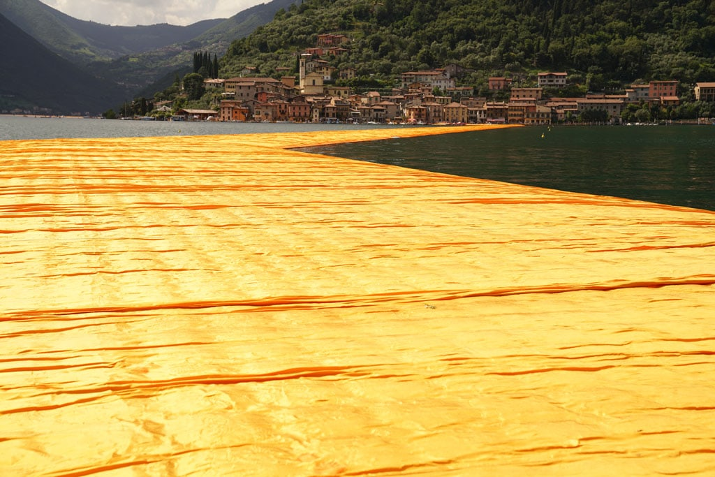 Christo artwork Lake Iseo 2016 The Floating Piers 10