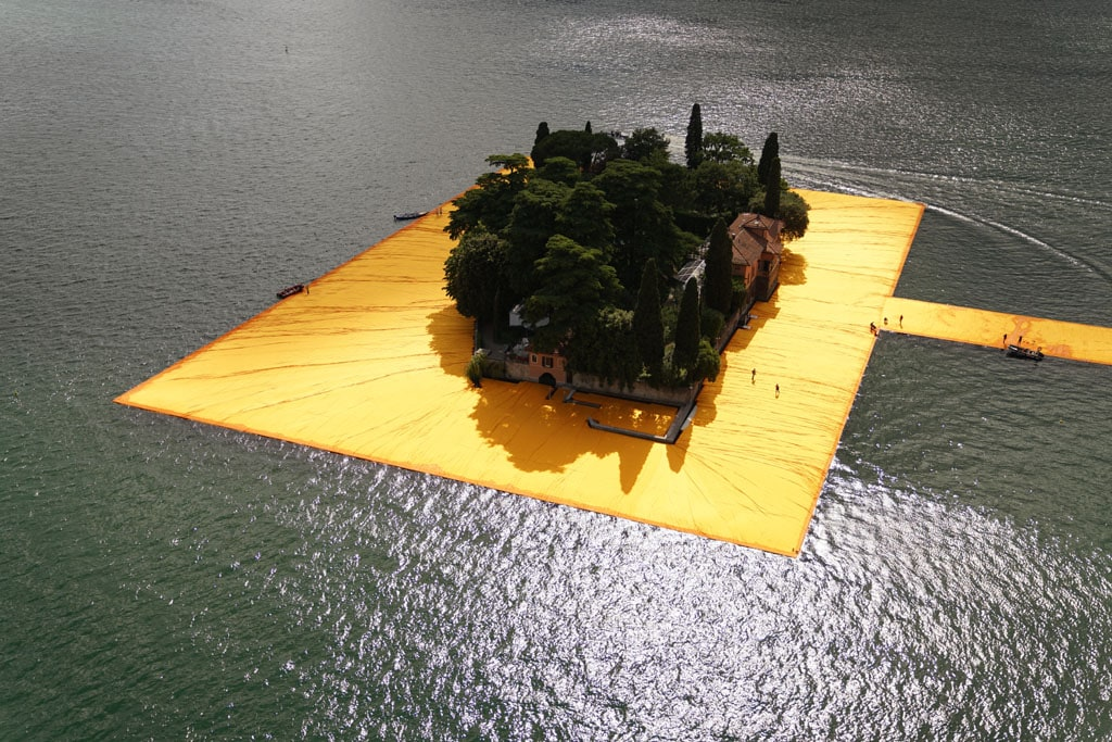 Christo artwork Lake Iseo 2016 The Floating Piers 11