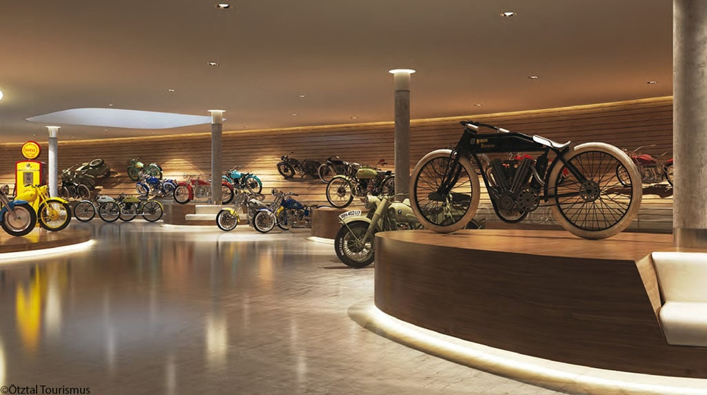 Motorcycle Museum Top Mountain Crosspoint Austria interior view 01