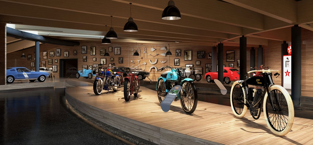 Motorcycle Museum Top Mountain Crosspoint Austria interior view 04