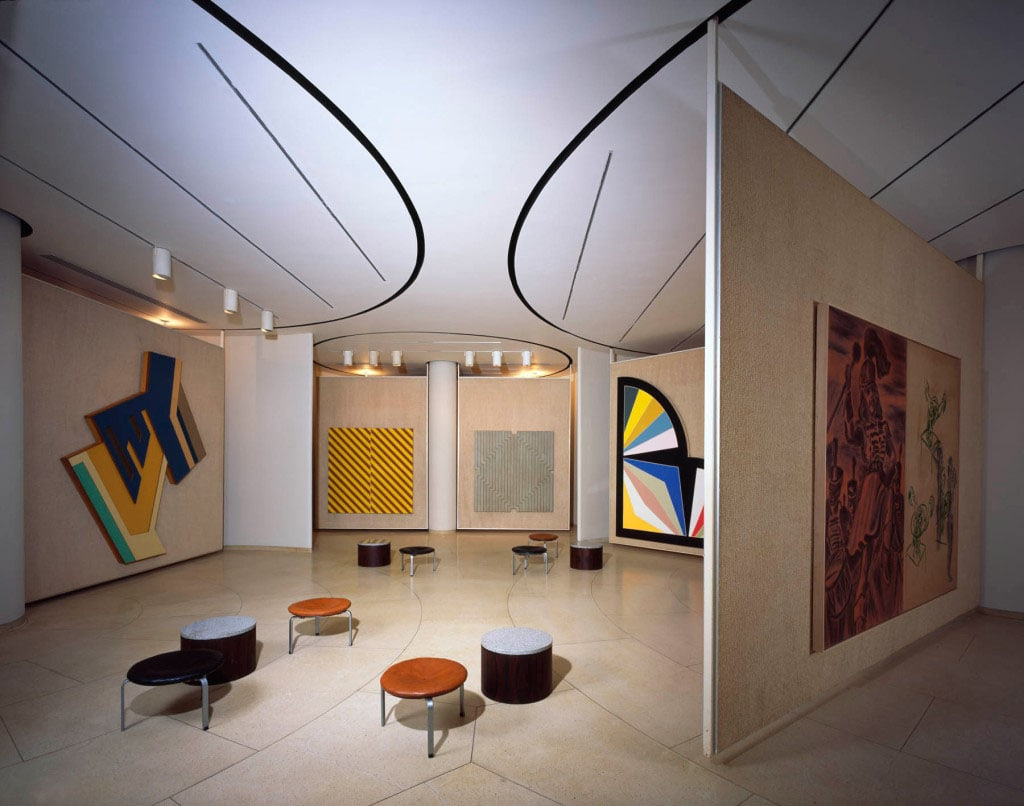Painting Gallery Philip Johnson New Canaan interior