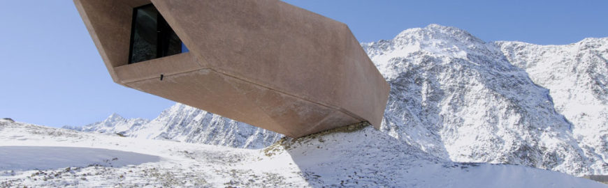 Pass Museum Timmelsjoch Austria Werner Tscholl exterior winter 09