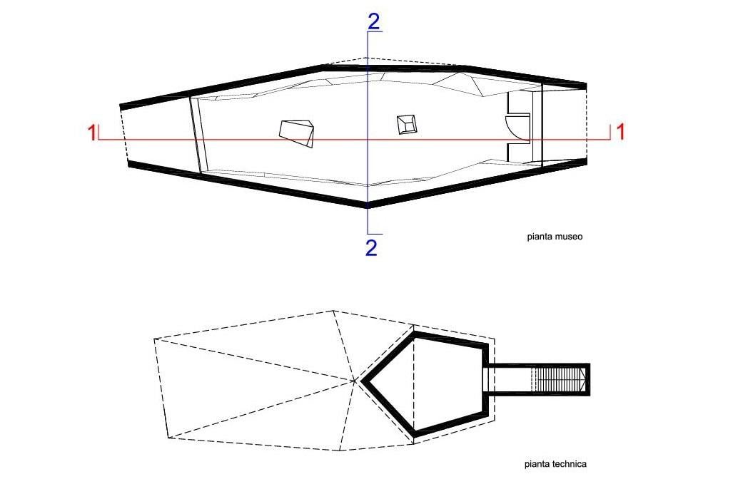 Pass Museum Timmelsjoch Austria Werner Tscholl floor plan 01