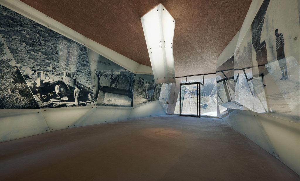 Pass Museum Timmelsjoch Austria Werner Tscholl interior view 02