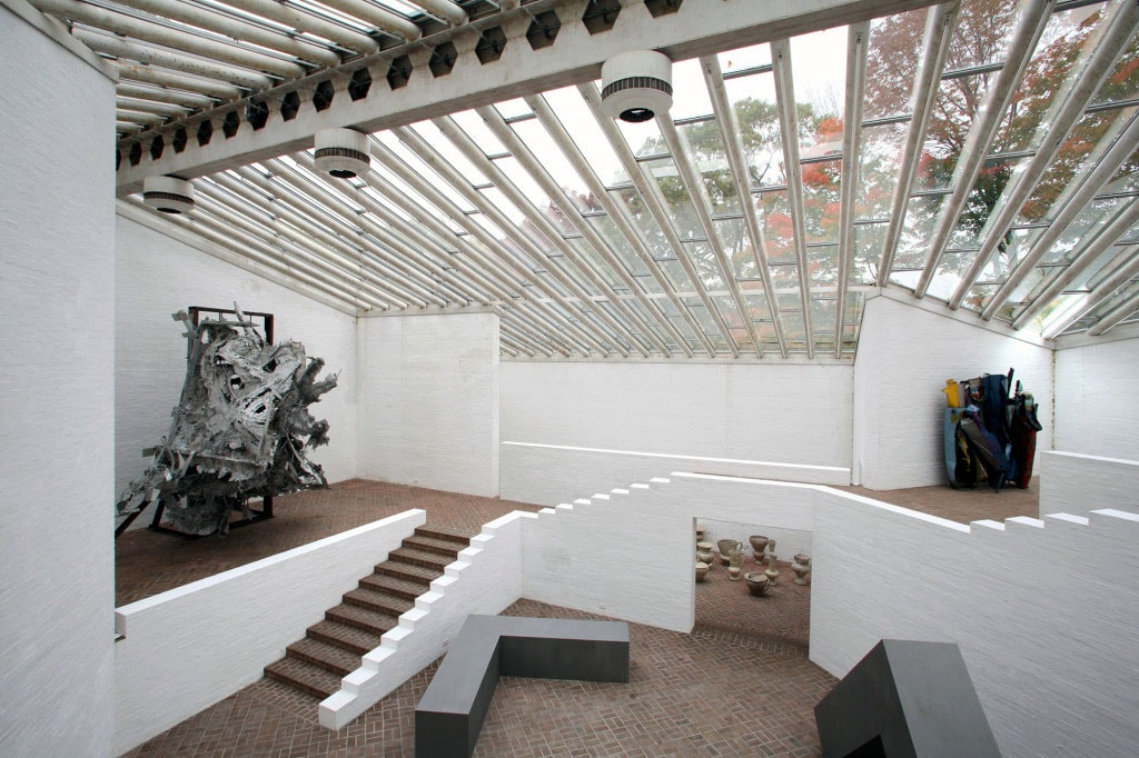 Sculpture Gallery Philip Johnson New Canaan interior