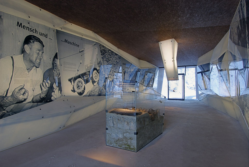 Timmelsjoch Experience Tyrol architectural sculptures Pass Museum exhibition