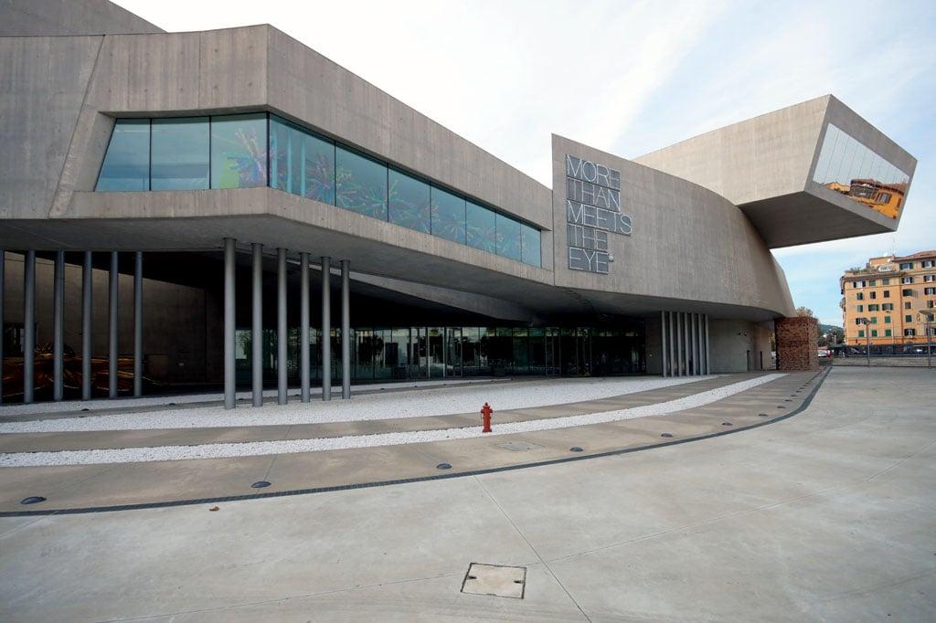 Zaha Hadid Maxxi Museum Rome Inexhibit exterior