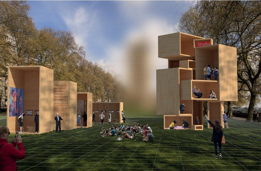 babushka boxes timber installation London Design Festival 2016 Landmark projects