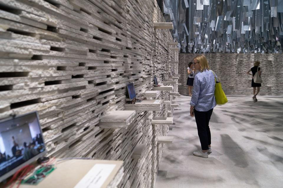 Alejandro Aravena installation Arsenale Biennale Venice Inexhibit 08