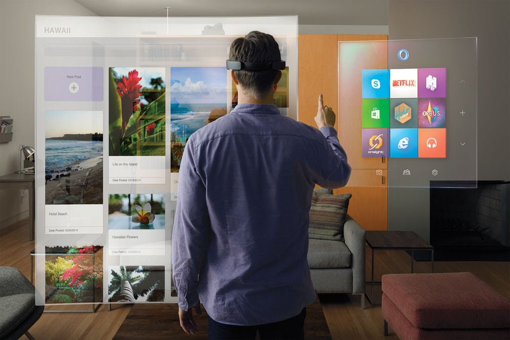 Microsoft Hololens augmented reality device 04