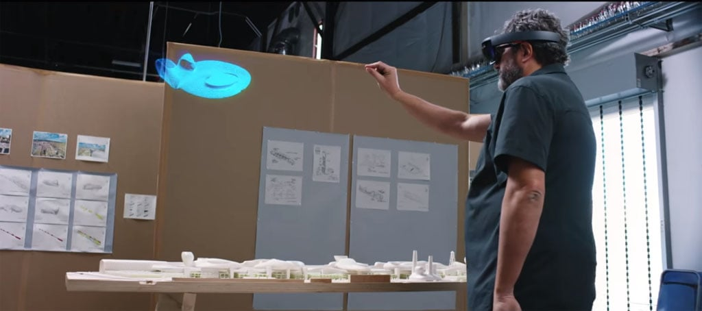 Microsoft Hololens gesture demonstration Greg Lynn