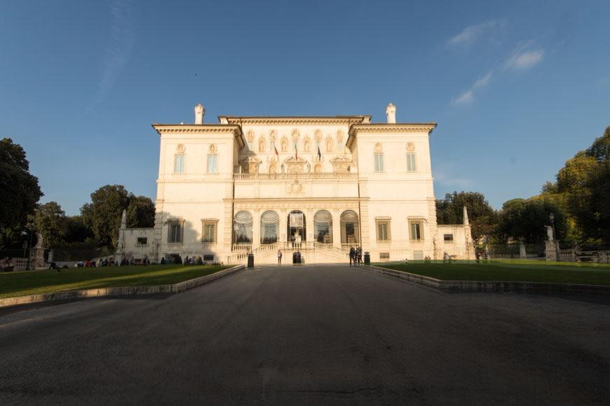 Galleria Borghese Rome art museum inexhibit