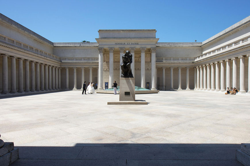 Legion of Honor San Francisco Rodin Thinker courtyard
