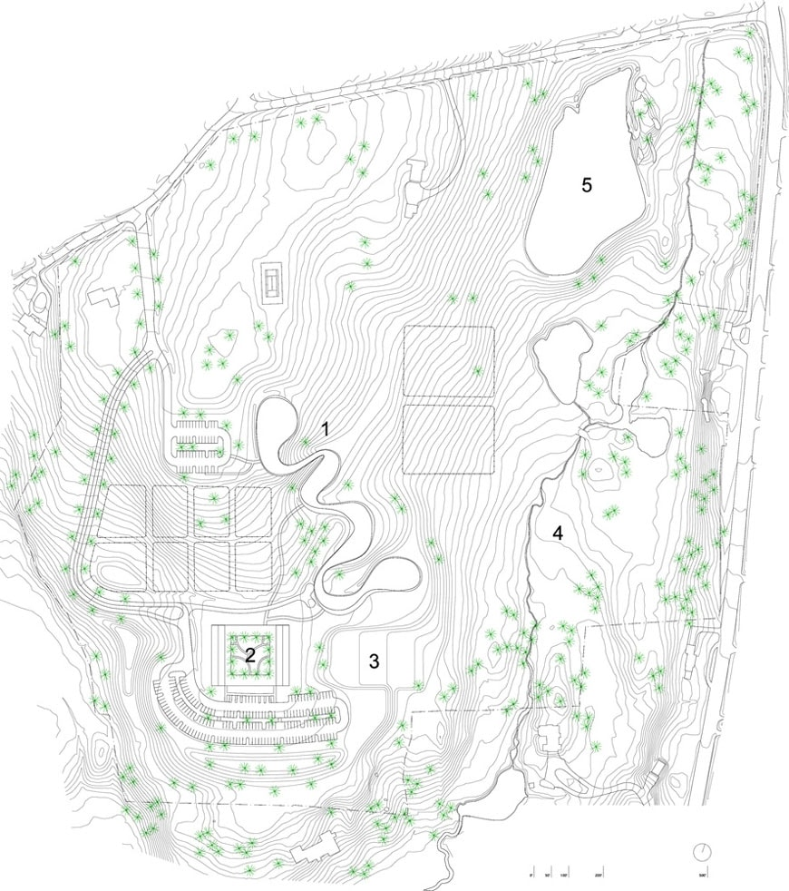 SANAA Grace Farms site plan 2 New Haven