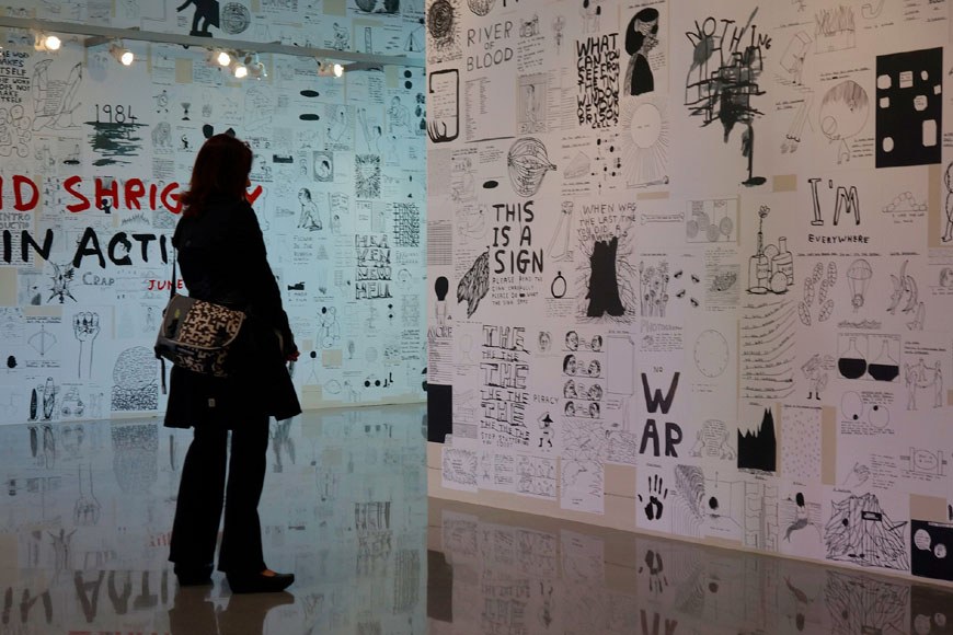 YBCA San Francisco Brain Activity exhibition David Shrigley