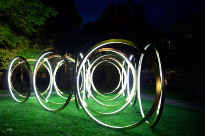 """Arbor Lights"" installazione di Not a Number Architects"