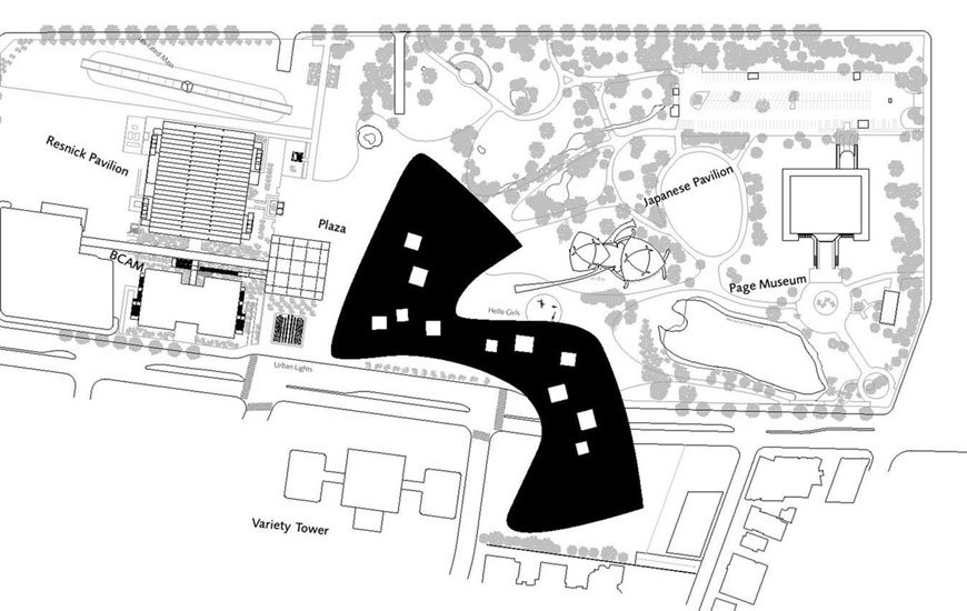 LACMA Peter Zumthor roof level plan