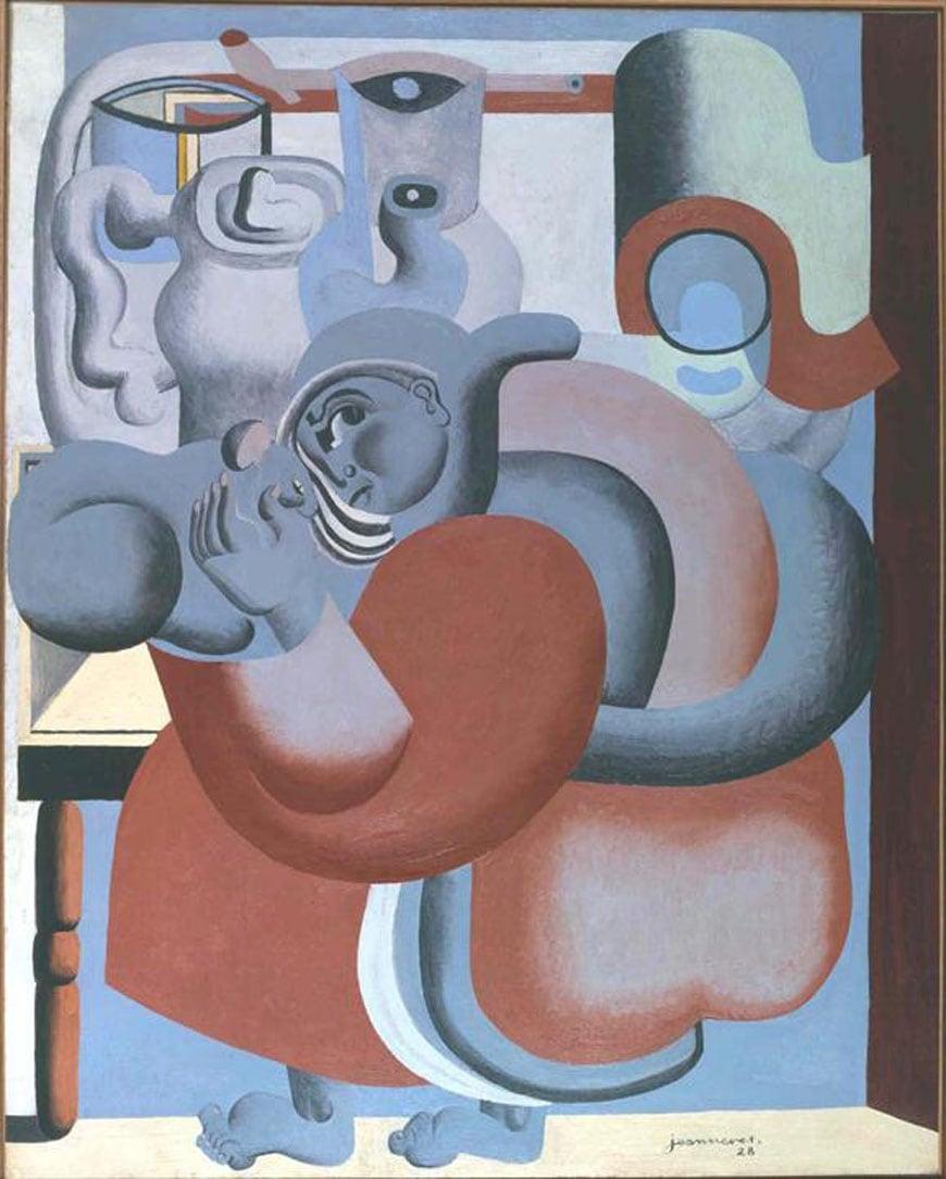 Le Corbusier La dame au chat et à la théière 1928