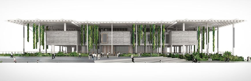 PAMM Perez Art Museum Miami Herzog & de Meuron facade rendering